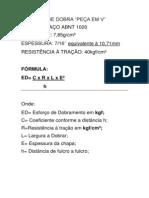 ESFORÇO DE DOBRA