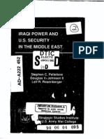Iraqi Power & US Security Report June 05 1990