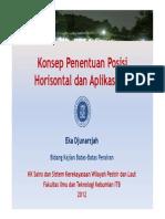 Penentuan Posisi Horizontal di Laut (2012)