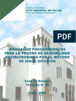 Manual de Sensibilidad Antimicrobiana INS
