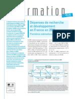Dépenses de Recherche et Developpement France 2006