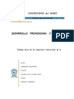 Código ético de los Ingenieros Industriales de la Universidad del SABES