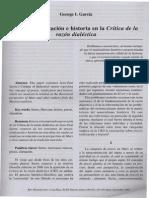 Praxis. Totalidad e Historia en La Critica de La Razon Dialectica
