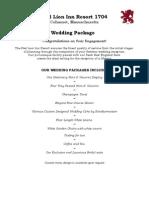 Wedding Package Menu