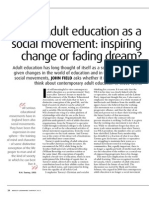 Adult Education as a Social Movement