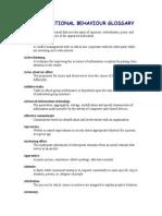 Organizational Behavior Glossary