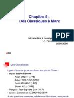 IAE Chap 5 - Des Classiques à Marx