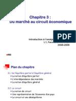 IAE Chap 3 - Du marché au circuit économique