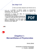 IAE Chap 4 - Mercantilistes Et Physiocrates