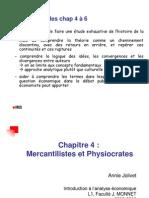 IAE Chap 4 - Mercantilistes Et Physiocrates