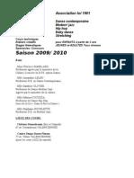 INFOS RENTREE DANSE 2009-2010