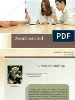 La Disciplinariedad
