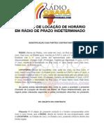 CONTRATO DE LOCAÇÃO DE HORÁRIO EM RÁDIO DE PRAZO INDETERMINADO obara