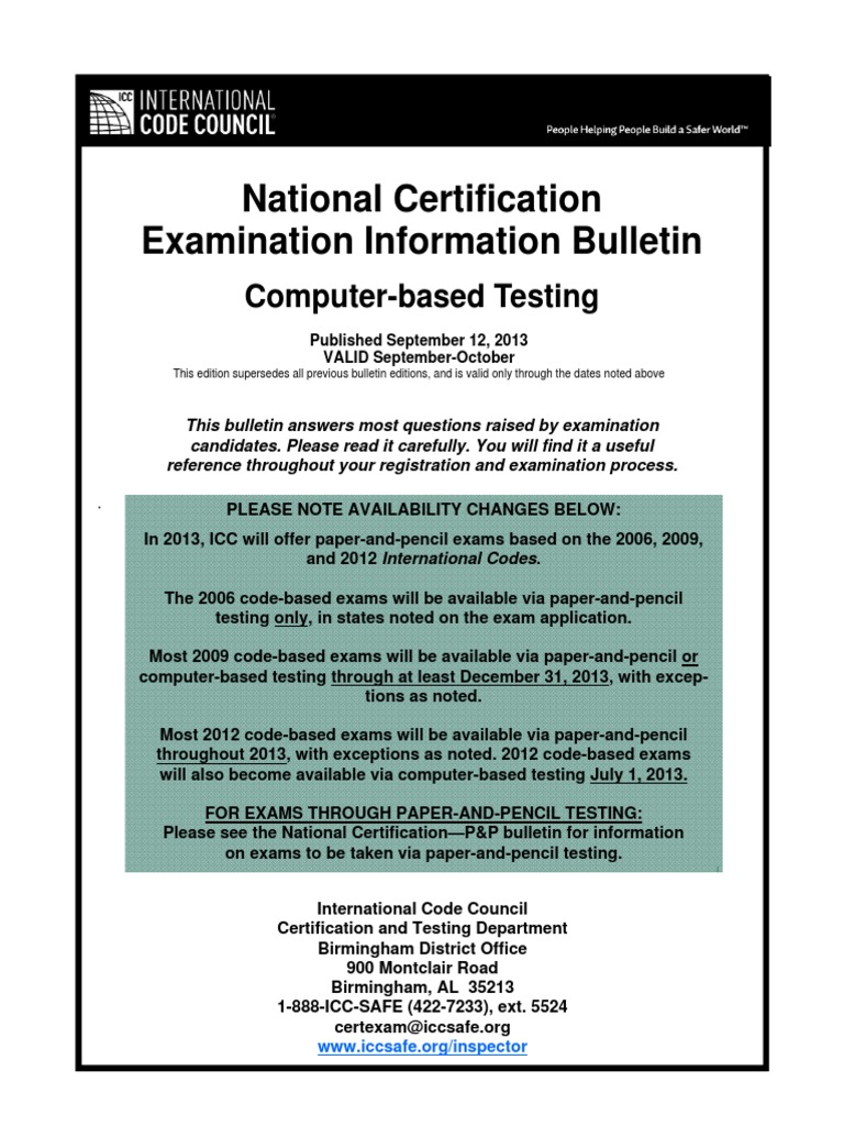 2013 09 10 national certification examination information bulletin 2013 09 10 national certification examination information bulletin cbt professional certification test assessment fandeluxe Choice Image
