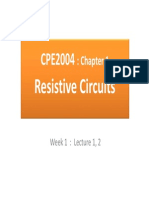 CE2004 Circuit and Signal Analysis Chapter 1