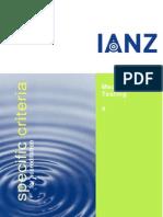 Specific Criteria Mechanical Testing 4 IANZ