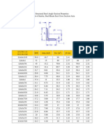 Structural Steel Angle Section Properties
