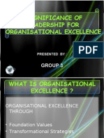 Significance of Leadership in Organisational Excellence