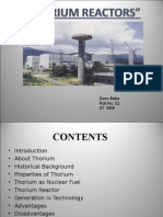 Thorium (use in reactors)