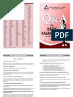 Q & a on Batas Kasambahay (RA No 10361)
