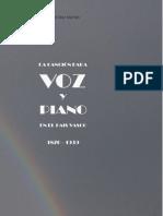 La Cancion Para Voz y Piano en El Pais Vasco 18701939