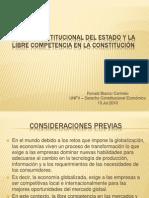 El Rol Constitucional Del Estado y La Libre