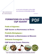 CQP Responsable Magasin Rayon Produits Bio Fruits Legumes Fromagerie