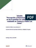Percepcion y Disposicion Ciudadanan de La Gestion en Calidad de Aire (Tco PLCasas)