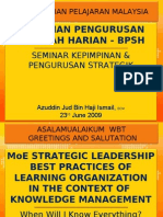 Azuddin Jud Ismail - Towards a Better Management of MoE via KM in 1Malaysia Creative Economy 1