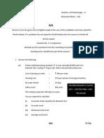 CA-IPCC QUESTION PAPER COST- FM NOV 13