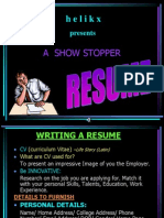 A Show Stopper Resume1