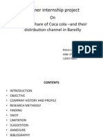 coca cola market share and distribution channel