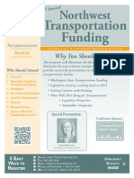 Northwest Transportation Seminar Agenda and Brochure, by NW Seminar
