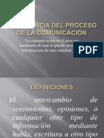 PROCESO DE LA COMUNICACIÓN 2013