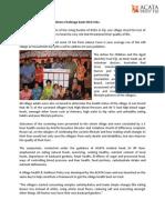 ACATA Village Health & Wellness Outcome Press Release