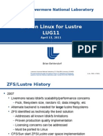 LUG11 ZFS on Linux for Lustre