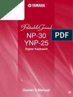 Yamaha NP30 manual