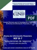 NIF B7 Adquisiciones de Negocios Rev