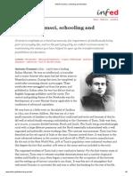 Antonio Gramsci, Schooling and Education