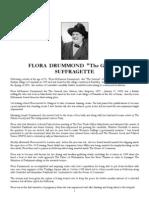 Flora Drummond the General - Suffragette - Buried Carradale
