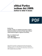 The Political Parties and Elections Act 2009