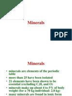 MMinerals description for human nutrition