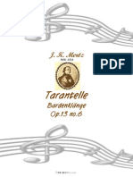 Mertz Bardenklange Book6 Op13 Tarantelle
