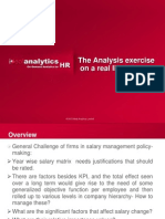 The Analysis Exercise on a Real Life HR Data