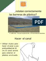 [Control del gorgojo de los Andes] Como se instalan correctamente las barreras de plástico