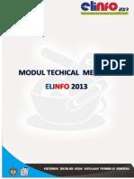 Modul Technical Meeting Elinfo 2013
