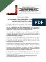 DOCUMENTO SEMINARIO EL RADICALISMO SALTEÑO A DEBATE