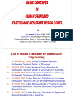 Earthyquake Resistant Design Codes by Dr. AryaIS  1893 (Part I), 2002