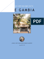 Peace Corps The Gambia Welcome Book  |  June 2013 CCD        GMWB635