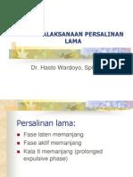 Penatalaksanaan persalinan lama_HW.ppt